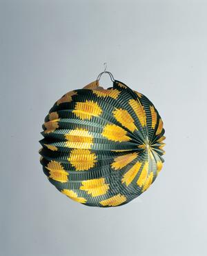 Lampion rund m. Sonnenblumen ø 24cm, schwer entflammbar 83060630