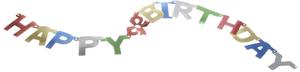 Diverse Girlande Happy Birthday Karton, L: 143 cm, SB-Beutel 73174504