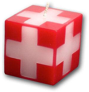 Kerze Swiss-Cube, 40x40 mm 83210040