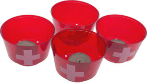 WECO Partybecher mit Kreuz rot 4 Stück 7404100