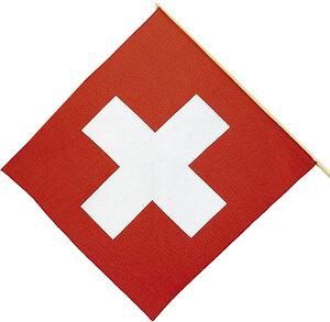 Schweizerfahne, Stoff, 30 cm mit Stab 83360002