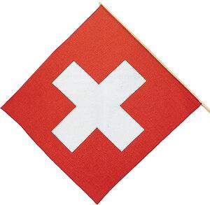 Kurt Hauser Schweizerfahne, Stoff, 40 cm mit Stab 83360003