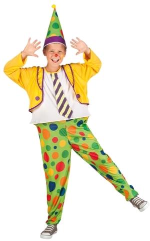 Boland Clown Jumbo, 4-6 Jahre 2-teilig, Overall mit Hut, Jacke und Kravatte angenäht 83411226