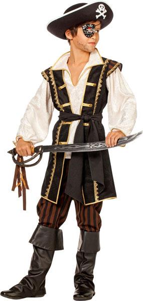 Pirat braun Junge Gr.152 3-teilig, Hose, Oberteil, Gurt 83430426