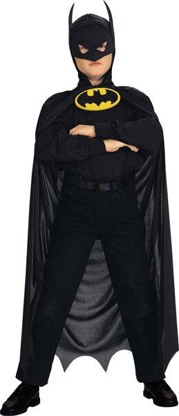 RUBIE'S Batman Umhang Original Einheitsgrösse schwarz 1-teilig Cape mit Kopfbedeck 83480030