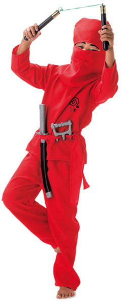 FRIES Party-Chic Ninja Rot Gr.128 4-teilig, Hose, Oberteil, Haube, Gurt 83490504