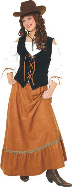 Kleid Texas Lady Gr.44 3-teilig, Rock, Oberteil, Weste 83524115