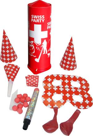 Constri Tischbombe Swiss Party H: 21 cm, ø 7.5 cm, Hüte, Ballone, Wurfspiele, Loups 84130441