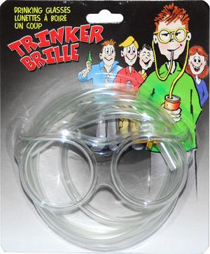 Erfurth Brille Trinker Strohhalm SB-Karte, Plastik PVC 84210164