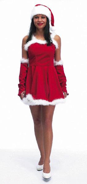 Freddy Weihnachtsdame Gr.38 4-teilig, Mütze, Rock Handschuhe 85510027