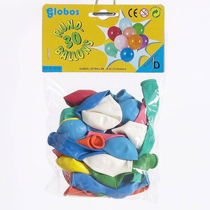 Globos Rundballon 30 Stück SB-Beutel, 20 cm Durchmesser 86340478