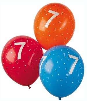 TIB Heyne Ballon mit Zahl 7, 5 Stück ø 30 cm, assortiert, Kautschuk/Latex 86340790