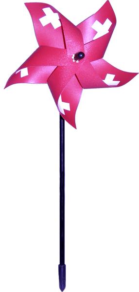 Windrad Schweiz, klein ø 15 cm, mit Schweizerkreuz, HQ-Qualität 86910020