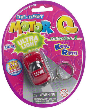 Schlüsselanhänger Mini-Auto 8-fach (eines wird geliefert sortiert, 3.5 cm mit Licht, SB- Karte 87710000