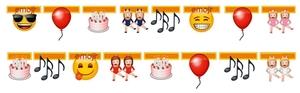 TIB Heyne Girlande emoji L:165 cm, im SB-Beutel, verschiedene Icons 88514019