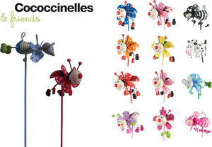 TIB Heyne Windrad Coccinelles klein 8x4.5 cm, Stab 26.5 cm, assortiert 88540770