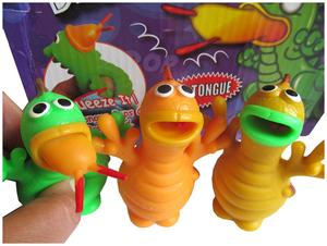 Postler Dino mit Schleimzunge 7.5 cm, drück Dinos Bauch u. er streckt die Zunge raus 88987665