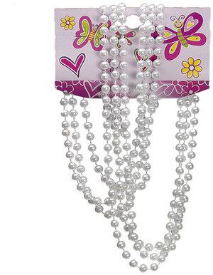 Perlenkette weiss 3 Stück L: 100 cm, SB-Karte 89110452