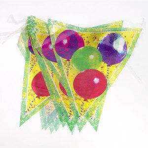 Wimpelkette Ballon 4m l: 29cm, SB-Beutel 89110563