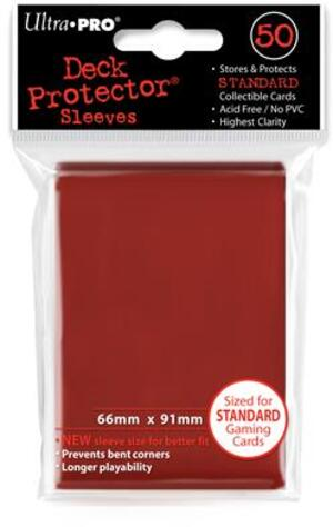 Ultra PRO Red Deck Protector Standard (50) NEW SIZE 2182672
