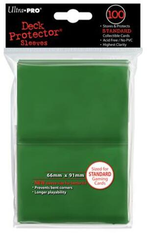 Ultra PRO Green Deck Protector Standard (100) NEW SIZE 2182693