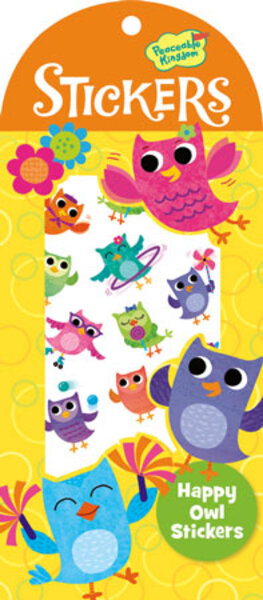 Peaceable Kingdom Happy Owl Stickers 4204755