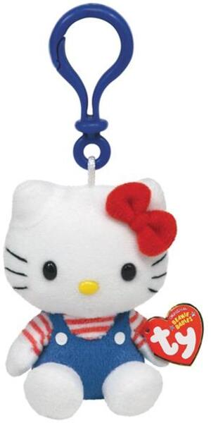 TY Hello Kitty,Overall blau/rotweiss 8.5cm SV 7140816