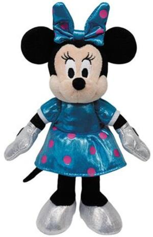 TY Disney,Minnie Glitter blau (mit Sound), 20cm SALE 41079