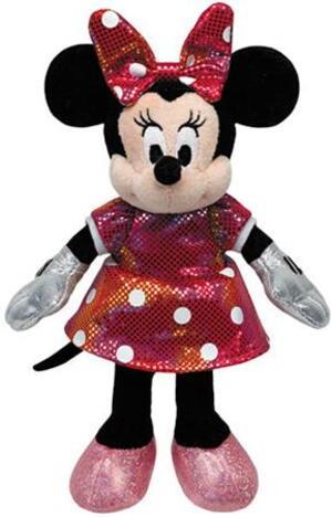 TY Disney,Minnie Glitter Regenbogen (mit Sound), 30cm SV 90175