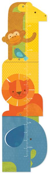 PETITCOLLAGE Wandmeter Tiere GCANIMALTOWER