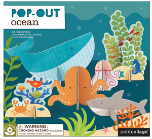 PETITCOLLAGE Pop Out Meerestiere POOCEAN