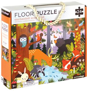 PETITCOLLAGE Floor Puzzle Märchenwald 24 Teile FPENCHANTEDWOODLAND