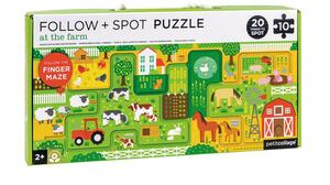 PETITCOLLAGE Follow & Spot Puzzle Bauernhof 10 Teile