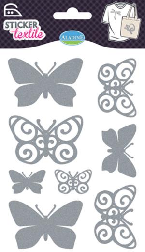 AladinE Textilsticker Schmetterlinge Glitzer SV 41416A1
