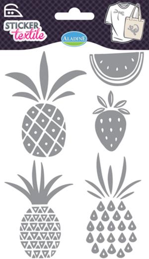 AladinE Textilsticker Früchte Glitzer SV 41426A1