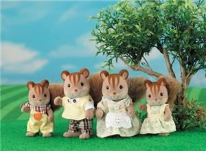 Sylvanian Families Walnut Squirrel Family 383136