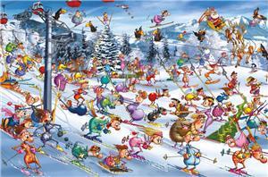 Piatnik F. Ruyer, Christmas Skiing 1000 Teile 53514
