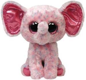 TY Ellie,Elefant pink gepunktet Large 24cm 34108