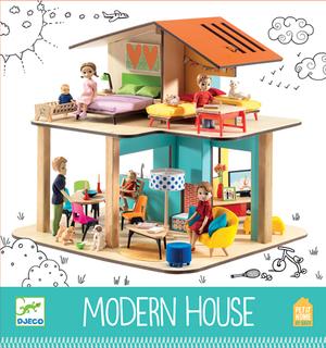 DJECO Puppenhaus Modern (ohne Acc/Puppen/Tiere) DJ07802