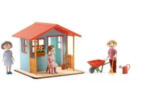 DJECO Puppenhaus Garten Spielhaus DJ07835