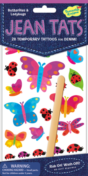 Peaceable Kingdom Butterflies & Bugs Jeans Tattoos SV 3678922