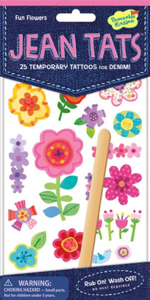 Peaceable Kingdom Fun Flowers Jeans Tattoos SV 3678923