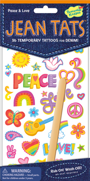 Peaceable Kingdom Peace & Love Jeans Tattoos SV 3678924