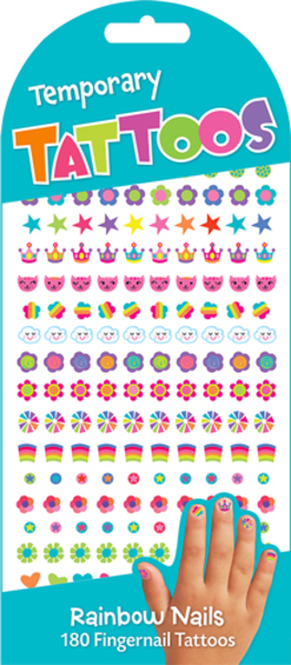 Peaceable Kingdom Rainbow Nails Tattoos TA29