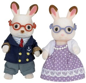 Sylvanian Families Chocolate Rabbit Grandparents 5190A2