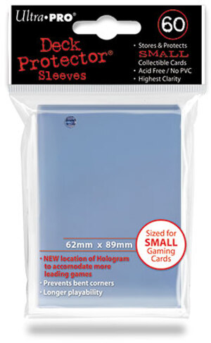 Ultra PRO Clear Deck Protector Small (60) NEW SIZE 82962