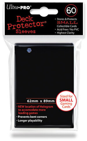 Ultra PRO Black Deck Protector Small (60) NEW SIZE 82964