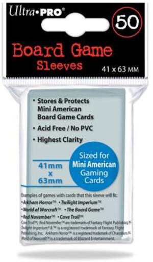 Ultra PRO Board Game Sleeves Mini American (50) E-82662