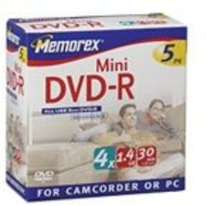 MEMOREX DVD-R Slim 1.4GB 851114-05