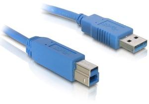 Delock USB3.0 Kabel, 1.8m, A-B, Blau 82434